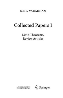 Bhatia Rajendra (Edt)/ Bhat...-Collected Papers I  HBOOK NUEVO (Importación USA)
