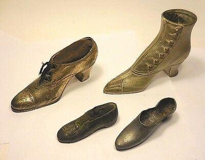 "VINTAGE-4 DIFFERENT Size,Shape,Style METAL ""SHOES"" Used for PIN CUSHIONS or?"