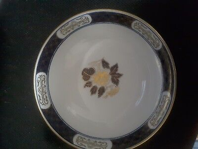 "1960's JAPANESE 8.5"" GOLD IMARI BOWL HAND PAINTED"