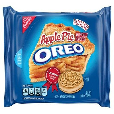 New Sealed Apple Pie Oreo Sandwich Cookies 10.7 Oz Limited Edition