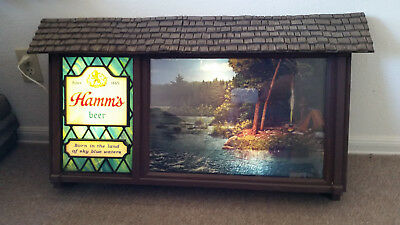 Hamms motion sign Beer sign. Vintage item.