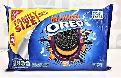 New Sealed Halloween Oreo Sandwich Cookies Family Size 1Lb 4 Oz