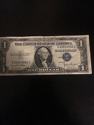 1935 One $1 Dollar Silver Certificate Note VG-VF Old US Currency