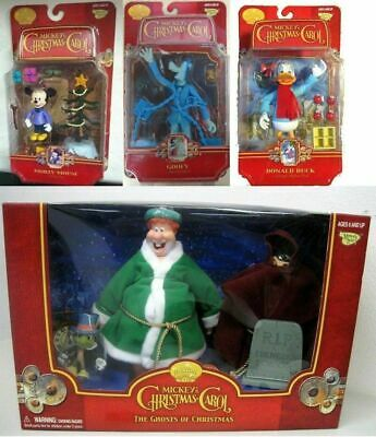 MICKEY 's Christmas Carol LOTTO 4 Action Figures GHOSTS DONALD DUCK GOOFY MORTY