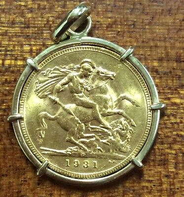 1931p sovereign - Sov 7.98 grams mount 2.44 grams