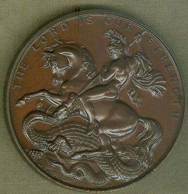 1891 British Medal Issued for the Polytechnic Exhibition London  by J.A. Restall