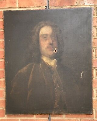 18th Century Antique Oil Painting on canvas portrait of a Noble gentleman