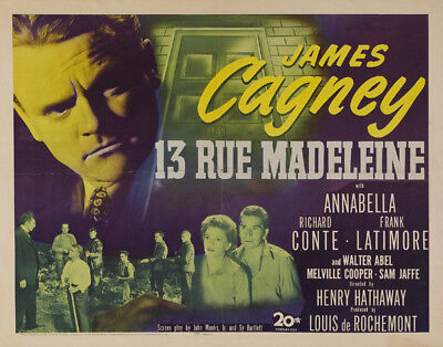 13 Rue Madeleine UNSIGNED poster photo - K2152 - James Cagney and Annabella