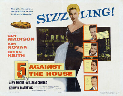 5 Against the House UNSIGNED poster photo - K2164 - Guy Madison and Kim Novak