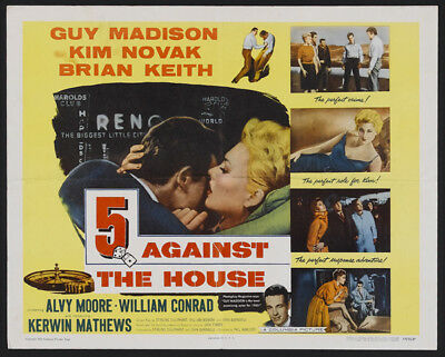 5 Against the House UNSIGNED poster photo - K2165 - Guy Madison and Kim Novak