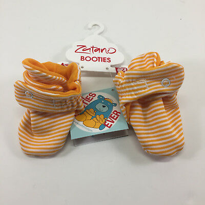 Zutano Baby Booties - Orange Candy Striped - 3 mos. New with Tags.