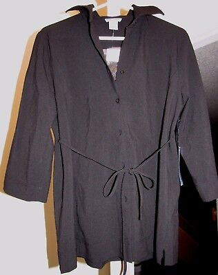 Mimi Essentials for Maternity Women's Black Career Blazer Jacket Tie size P  NWT
