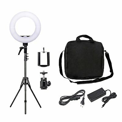 Zomei 12-inch Inner/14-inch Outer LED Ring Light Kit Tripod Phone adapter Camera