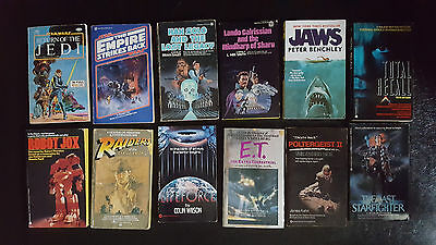 Movie Tie In Empire Strikes Back Jaws Poltergeist II E.T. Paperback Book Lot