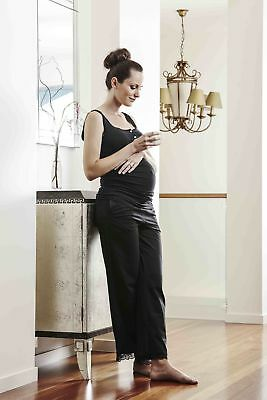 NEW drawstring pant in vintage black Maternity