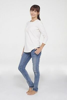 NEW long sleeve T in pearl Maternity