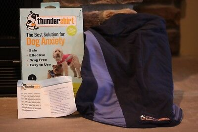 Thundershirt The Best Solution For Dog Anxiety Large Blue Polo Barking, Fears...
