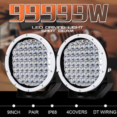 9''99999w White Cree Led Round Driving Spot Work Light Offroad 4WD HID Truck ATV