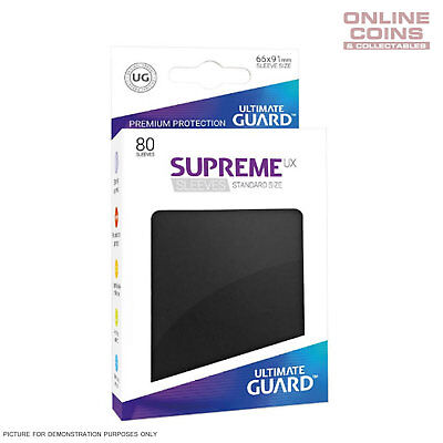 Ultimate Guard SUPREME UX High Quality Card Sleeves - BLACK - Pokemon MTG