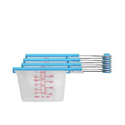 NEW Dreamfarm Levups Measuring Cups Blue