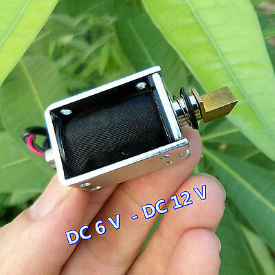 DC 6V~12V Push Pull Type Suction Electric Magnet Mini Solenoid Electromagnet 3MM