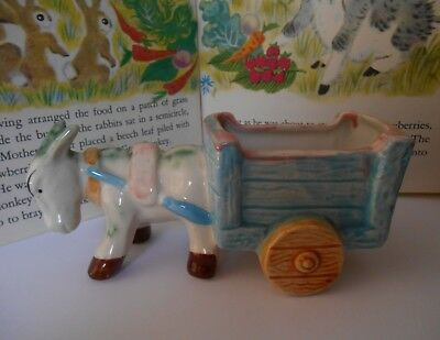 Vintage donkey and cart ornament