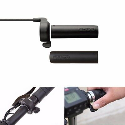 24V 36V 48V Thumb Throttle Speed Control W' Grips Electric Bike Bicycle Scooter
