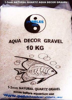 1-3 OR 4-6mm WHITE  AQUARIUM NATURAL GRAVEL-- Marble Chip -- 10 KG Bag