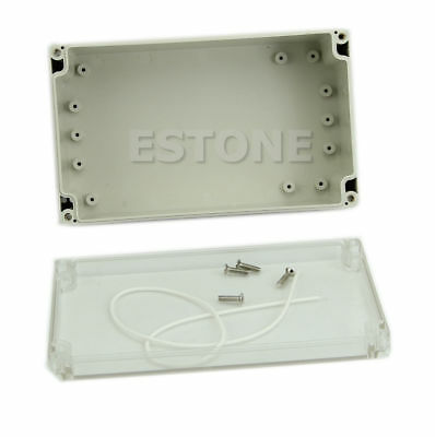Waterproof CASE200x120x75mm Clear Cover Plastic Electronic Project Enclosure Box
