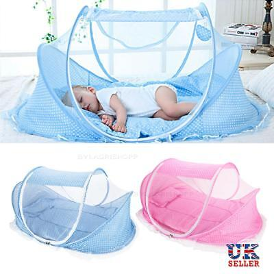 Baby Infant Portable Foldable Travel Bed Crib Canopy Mosquito Net Tent Mattress
