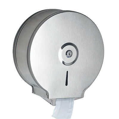 Wall Mounted Stainless Steel Bathroom Toilet Paper Dispenser Round Roll Holder