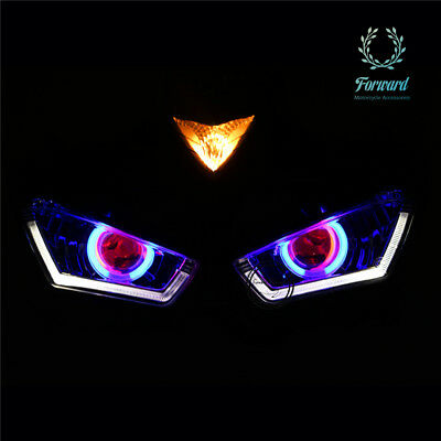 LED halo Angel eyes Headlight Assembly For Yamaha YZF-R25 R3 13-16 14 Motorcycle