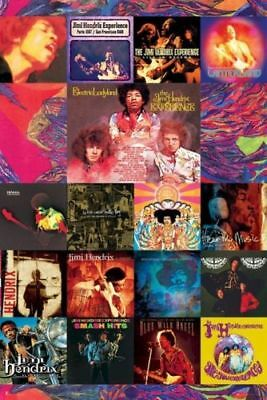 JIMI HENDRIX ~ 17 ALBUMS COLLAGE 24x36 MUSIC POSTER Guitar NEW/ROLLED!