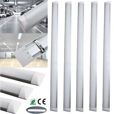 50/10/2x 4ft 1200mm Slim LED Light Tube Batten Linear Ceiling Mount Panel Lamp