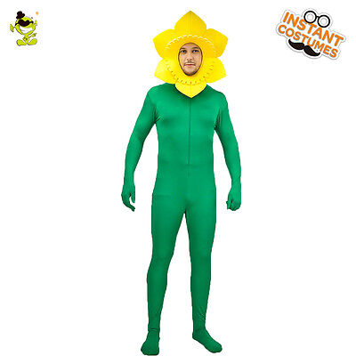 Men Sun Flower Costume Carnival Party Adult Funny Sunflower Cosplay Fancy Dress