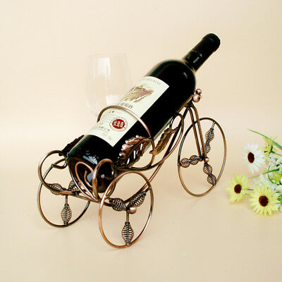 1PC Tricycle Wine Rac Supplies Metal Wine Holder Stainless Steel Metal Crafts