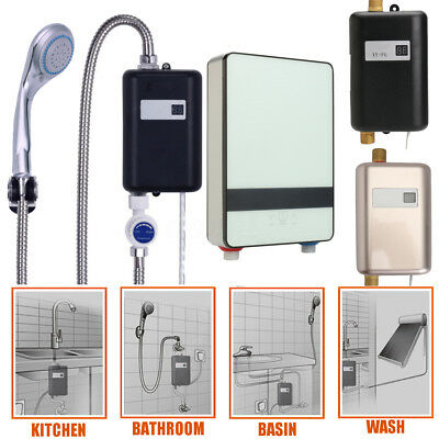 4 Types 220V Tankless Instant Bathroom Electric Hot Water Heater Shower System