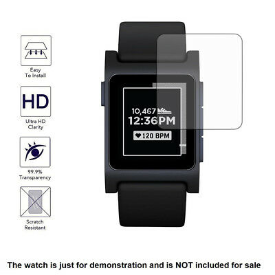 3x Clear LCD Screen Protector Cover Shield Film for Pebble 2 Heart Rate