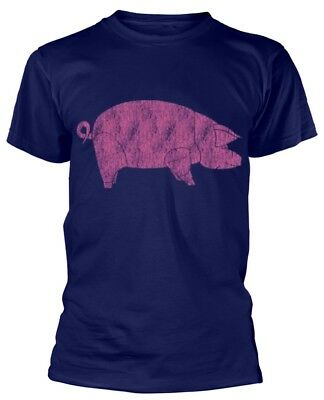Pink Floyd 'Animals Pig' (Navy) T-Shirt - NEW & OFFICIAL!