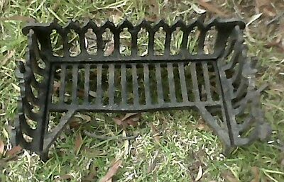 Antique Vintage Retro Gothic Style Cast Iron Fire Grate - As Is