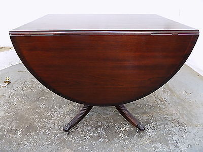 dining table,extending,table,pedestal,splayed legs,castors,mahogany,drop side