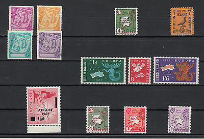 Guernsey Herm Island Unmounted mint 1950/60's issues multi listing