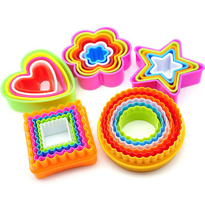 5 Pcs Candy Colour Food Grade Cake Cookie Cutter Mold Food Tools DIY Clay Mould