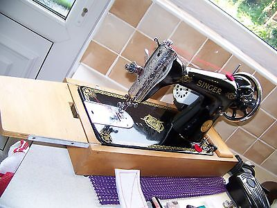 Outstanding 1938  Singer 15K80  'raf' Decals Semi Industrial Sewing Machine