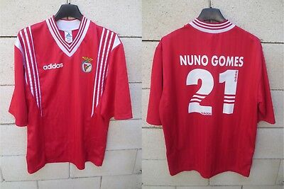 Maillot BENFICA vintage ADIDAS jersey home shirt NUNO GOMES n°21 trikot M