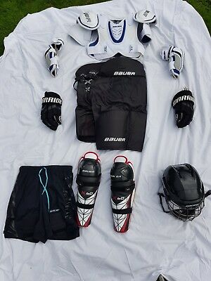 Full Junior or Small Senior Ice Hockey Kit Bauer, Reebok and Warrior