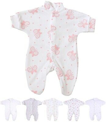 BABYPREM Baby Clothes Premmie Tiny Girls Sleepsuit Babygrow Coverall 00000000