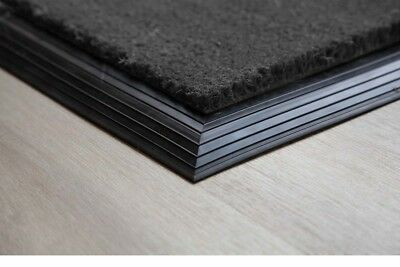 BEST Grey Coir Entrance Mat with Rubber Edge Various Sizes UK Floor Mat