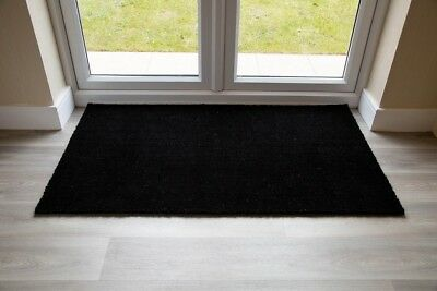BEST Black Coir Entrance Door Mat Various Sizes UK Floor Mat