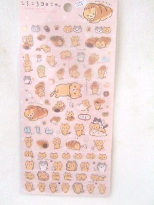 San-x Corocoro coronya Cat NEW bread sticker sheet 02